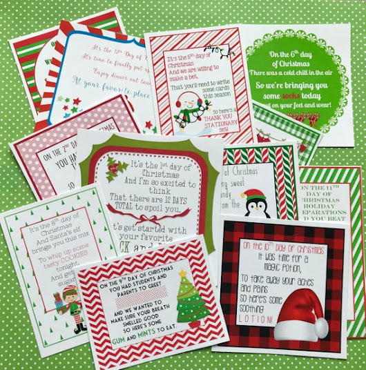 NEW! 12 Days of Christmas Printables!!