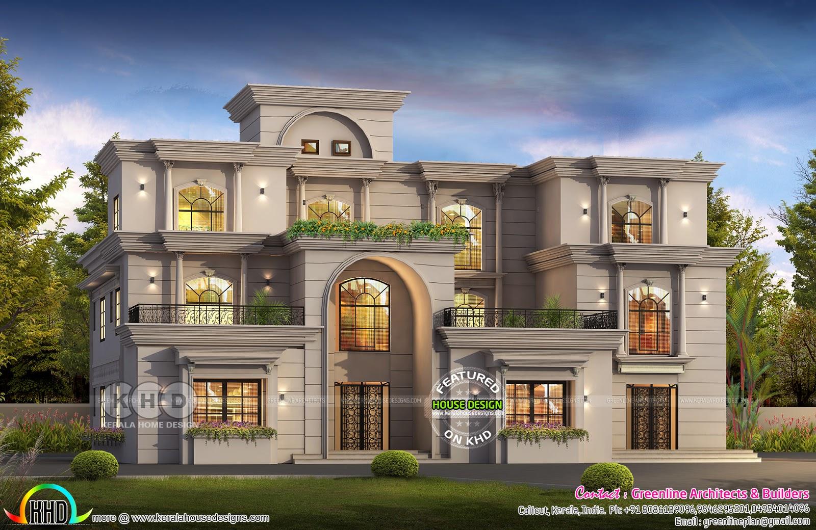 7 Bedroom Colonial Style Luxury House Plan Kerala Home Design Bloglovin