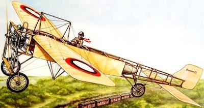 Imagen de Jorge Chávez en su avioneta a colores
