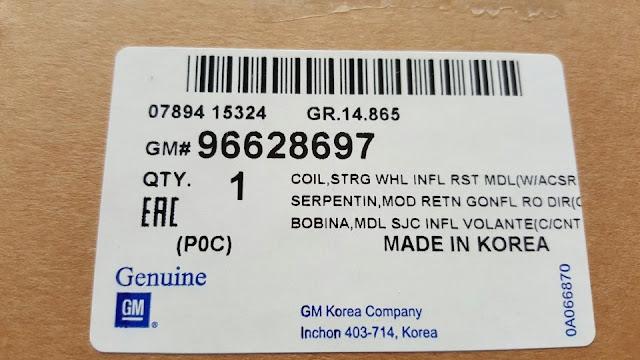 Cuộn cáp còi xe Captiva chính hãng GM