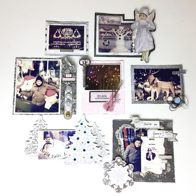 Then, I gathered pics of the trip and embellished them with the perfect matching collection Winter Wishes.