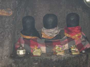 Three Linga is probably a relic of one of the Hindu sect of Siwa Pasupata, in Goa Gajah