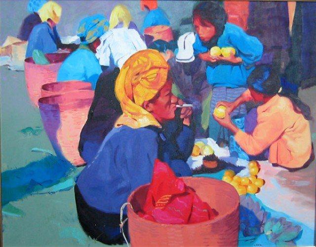 Мастер цвета. Maung Aw