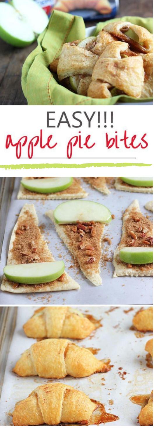 APPLE PIE BITES #dessert #pie