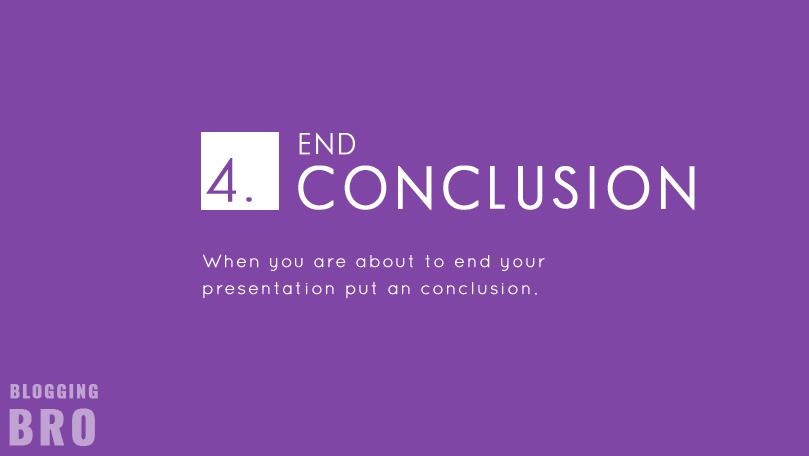 End-conclusion