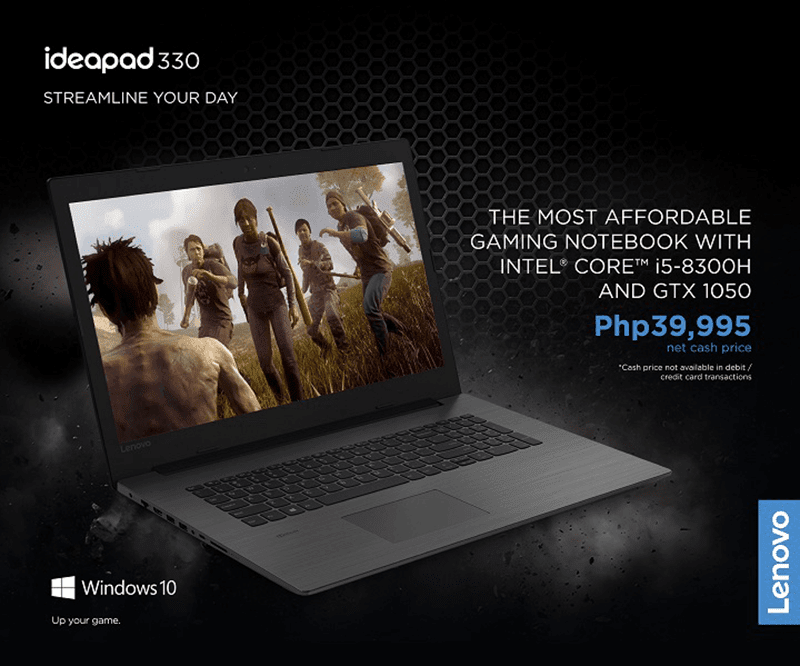 Sale Alert: Lenovo IdeaPad Gaming 330 GTX 1050 is priced at PHP 39,995