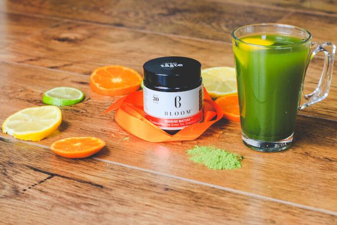 citrus fruits matcha green tea