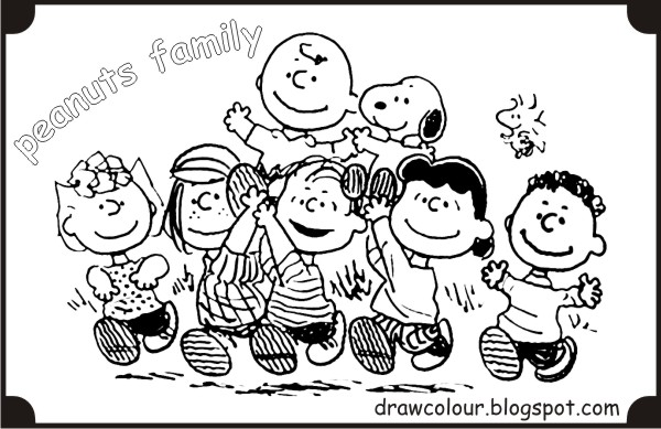 peanuts characters coloring pages - photo#19