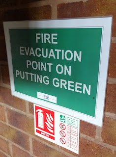 Fire Evacuation Point on Putting Green