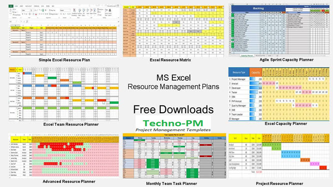 Resource Management using Excel  7 Template Downloads - Project