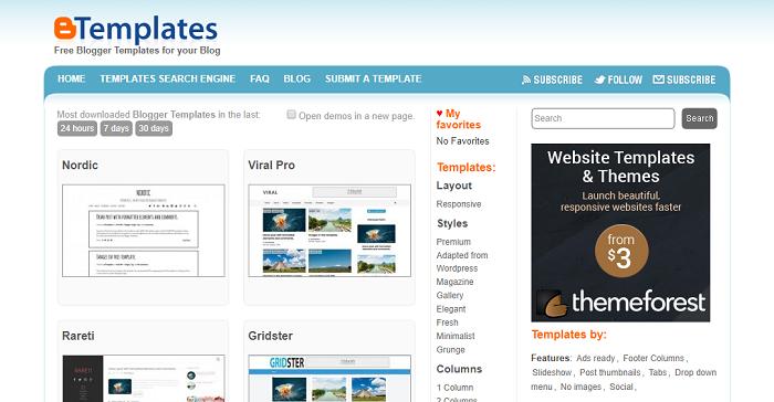 plantillas gratis para blogger Btemplates