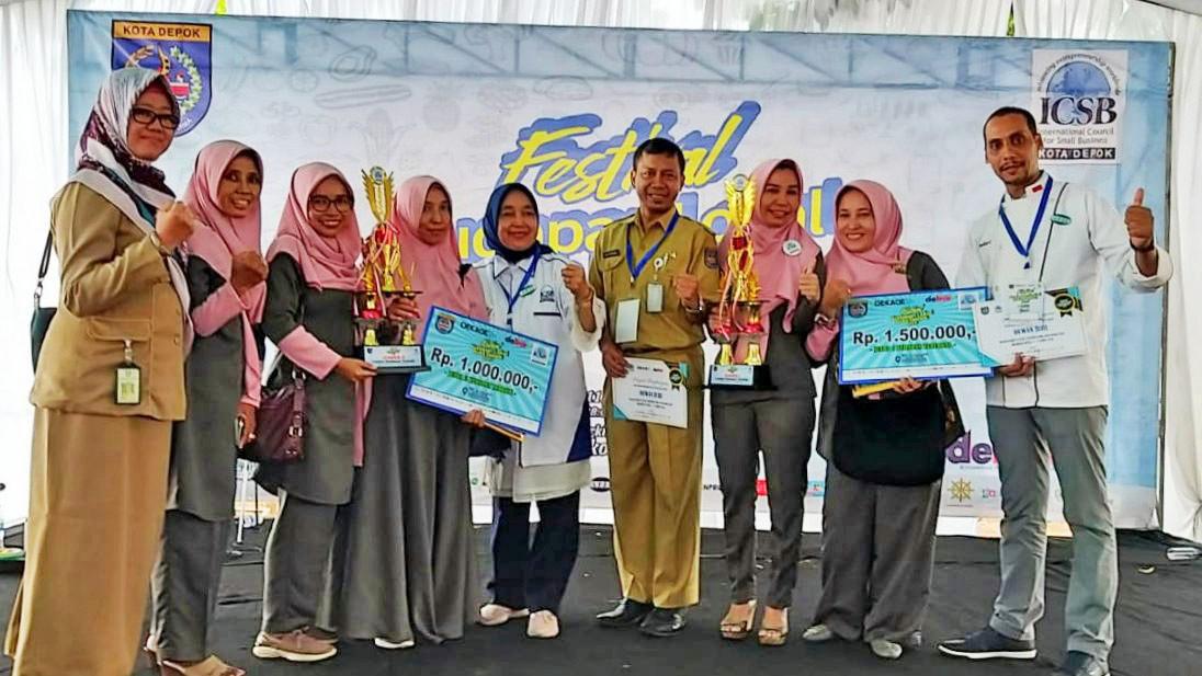 Festival Kudapan Lokal Kota Depok 2019 - UMKM MAPAN PAncoran Mas Juara 1 dan 2