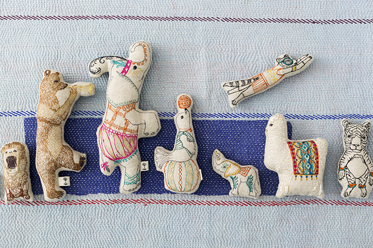 Embroidered animals by Coral and Tusk, featured by Julia Titchfield on Feeling Stitchy