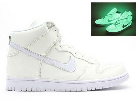 Glow in the Dark Nike Dunk High SB Halloween Man Shoes White ... a29b26311