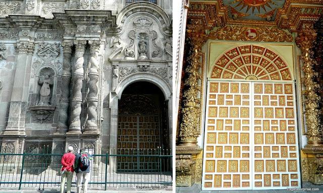 Detalhe da fachada da Igreja de La Compañia