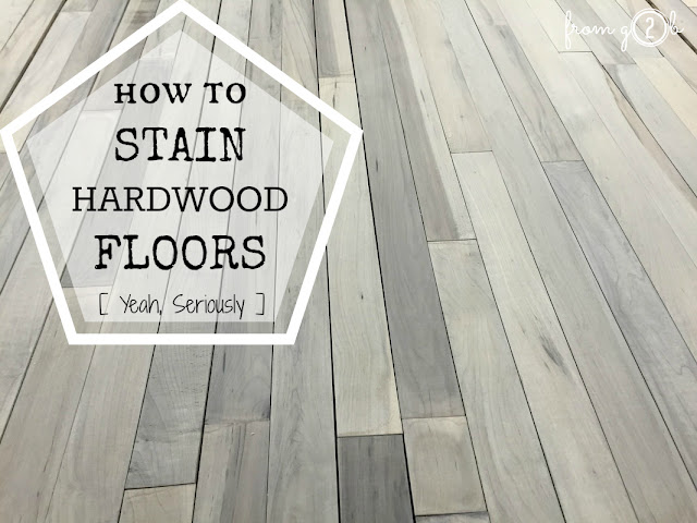 From Gardners 2 Bergers How To Stain Hardwood Floors