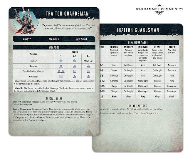 Cartas Guardia traidora Blackstone Fortress