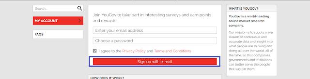 Cara daftar di Situs Survey Yougov
