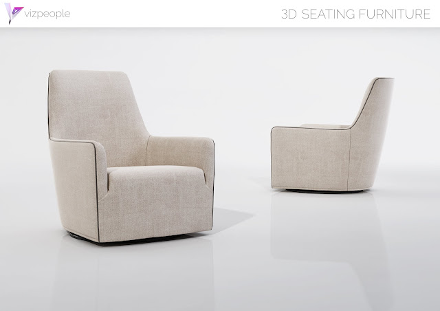 [3D Model Free] Seating Furniture set 4