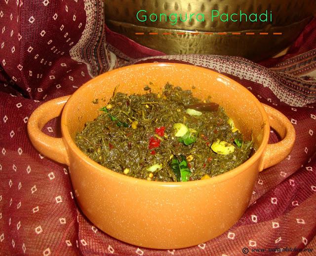 images of Gongura Pachadi Recipe / Andhra Gongura Pachadi / Andhra Style Sorrel Leaves Chutney