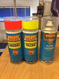 Hycote Fluorescent Foam Safe Acrylic Spray Paints
