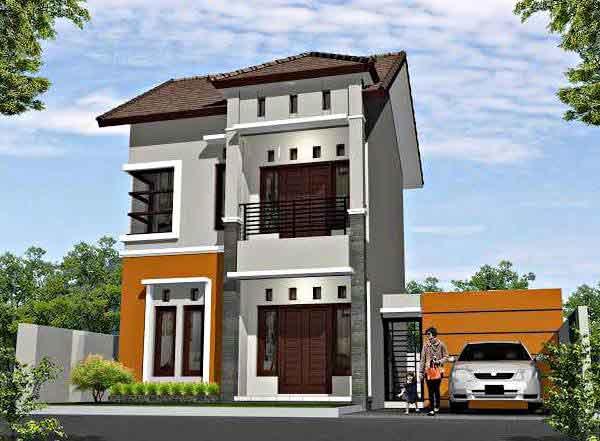 Model Desain Rumah Minimalis 2 Lantai Sederhana Ukuran 6x12