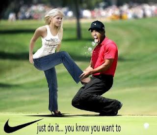 Tritt in die Eier Golfstar Tiger Woods