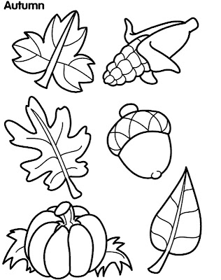 Autumn Leaves Coloring Pages