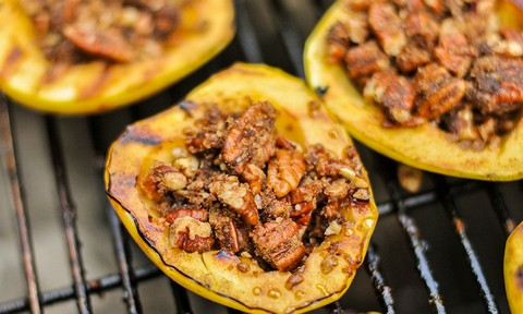 Baked Apples with Pecan Nuts and Mushroom Stuffing