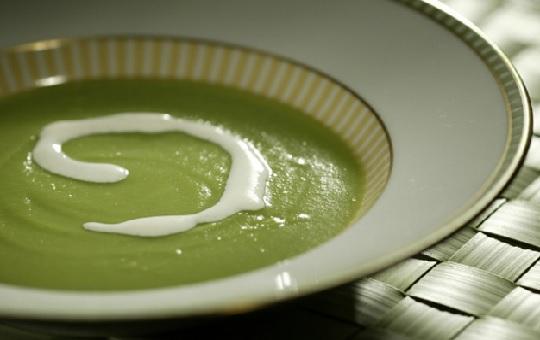 Crema de chicharos verdes