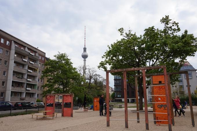 Berliinissä leikkipaikkoja on joka puistossa ja kulmassa. Itä-Berliini on paras alue.