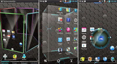 tampilan android keren 3 dimensi dari aplikasi Next Launcher 3D Shell