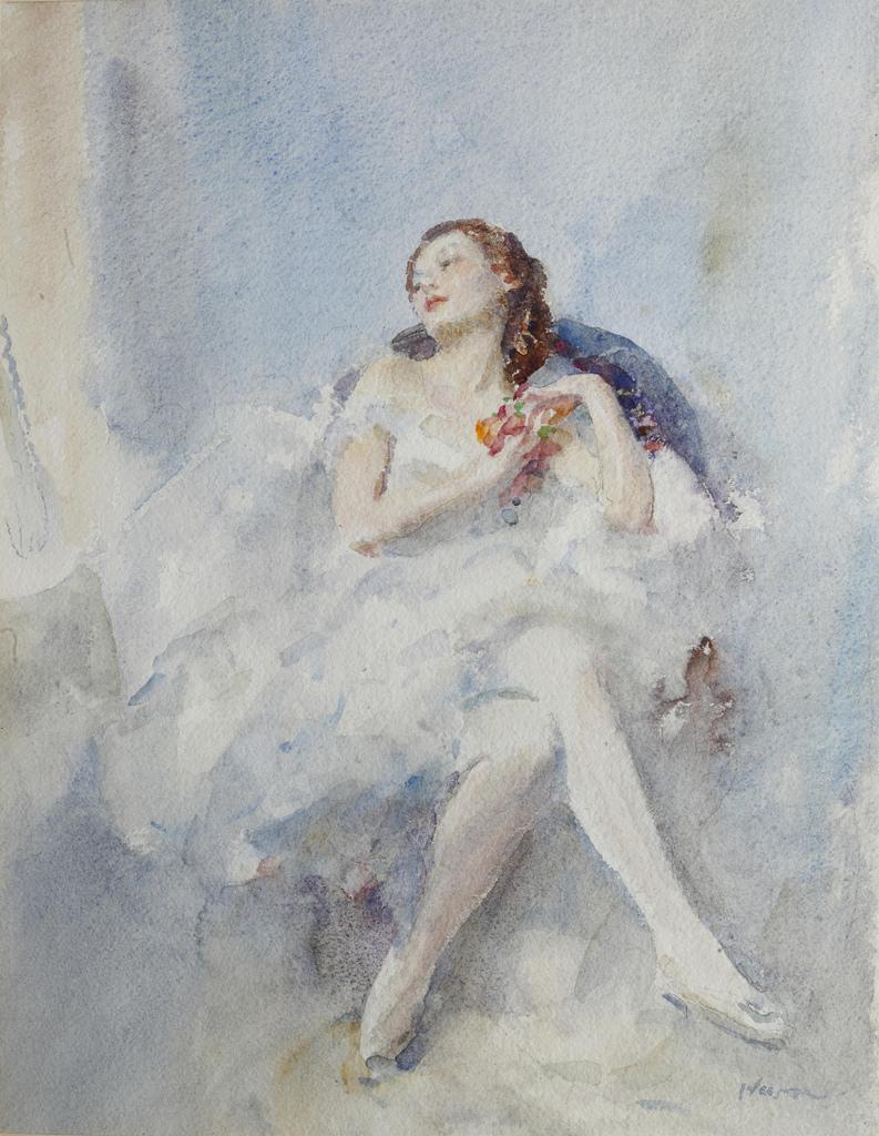 Walter Ernest Webster A seated ballerina