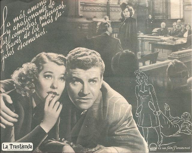 Programa de Cine - La Noche del 16 de Enero - Ellen Drew - Robert Preston