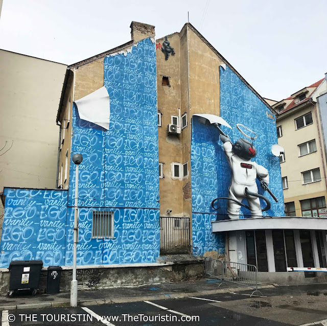 Mural ego vanity created during Street Art Festival in Bratislava in Slovakia