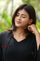 Actress Hebah Patel Stills in Black Mini Dress at Angel Movie Teaser Launch  0144.JPG