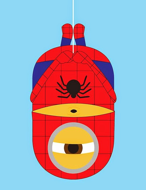 06-Spiderman-Kevin-Magic-Lam-The-Minions-Despicable-Me-Superheroes-www-designstack-co