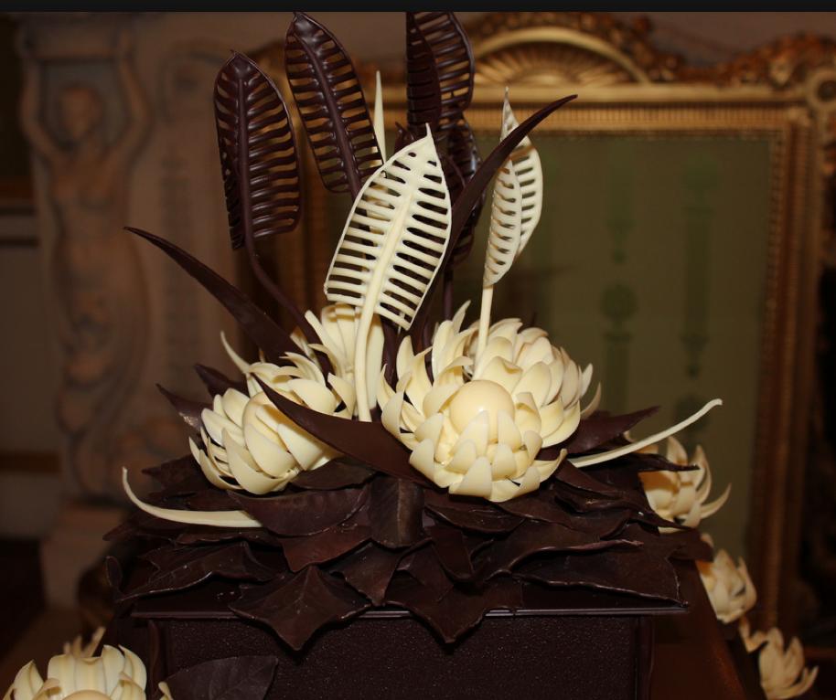 chocolate McVitrine's cake for the reception