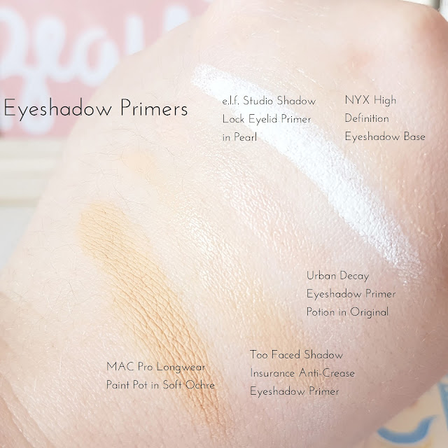 Eyeshadow Primer Collection feat. MAC, NYX, Urban Decay, Too Faced & e.l.f.