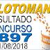 Resultado da Lotomania concurso 1897 (31/08/2018) ACUMULOU!!!