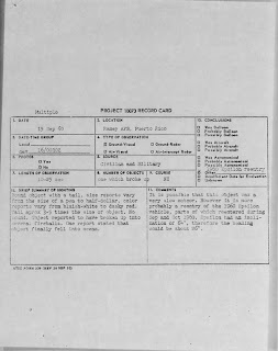 Round Object with Tail (Moon Dust Report)  9-15-1960