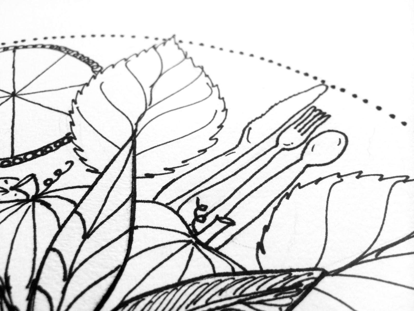 PaperTurtle: Thanksgiving Mandala ~ free coloring page
