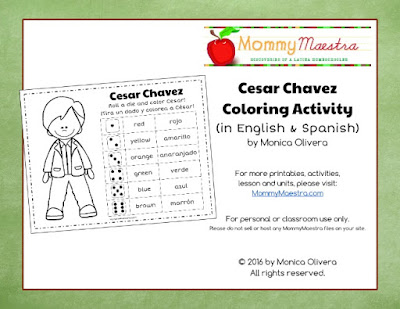 Mommy Maestra: Cesar Chavez Lesson Plans, Activities, Coloring ...