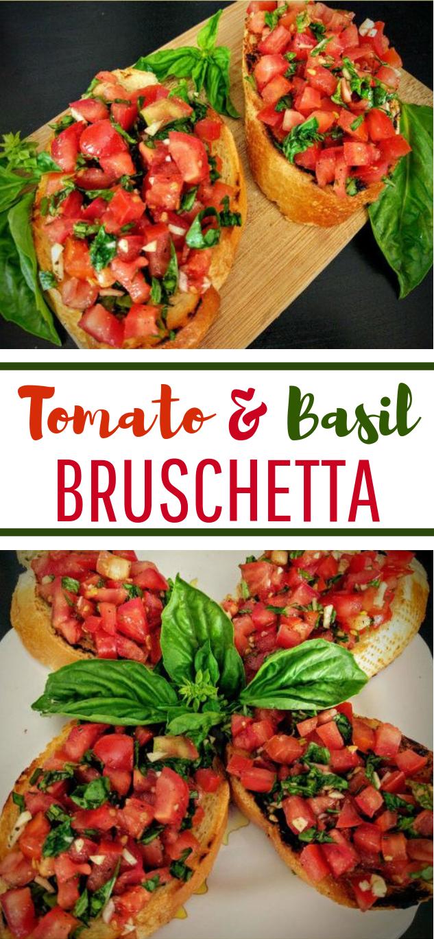 Tomato & Basil Bruschetta #easyrecipe #vegetarian