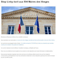 Stop Linky 88 écrit aux 504 Maires des Vosges