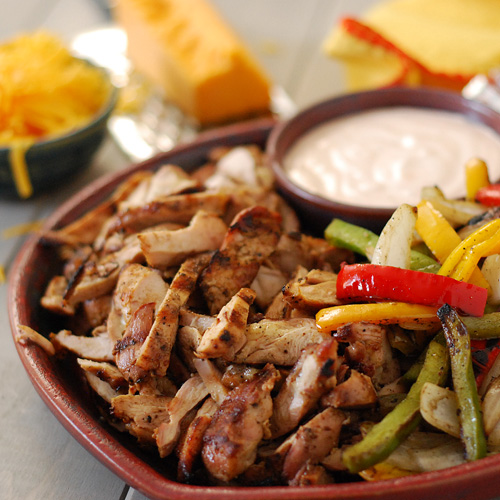 grilled chicken fajitas, tex-mex food,