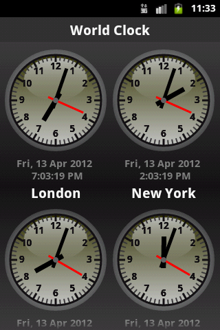 The Android Apps: Best World Clock in Play Store
