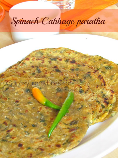 Spinach Cabbage paratha