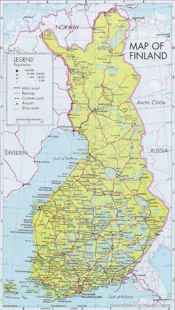 Finland Geografiske Kort Over Finland Global Encyclopedia