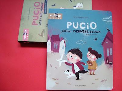 Pucio mówi pierwsze słowa, książka dla dzieci, książka logopedyczna